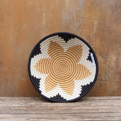 Rwandan sisal basket bowl